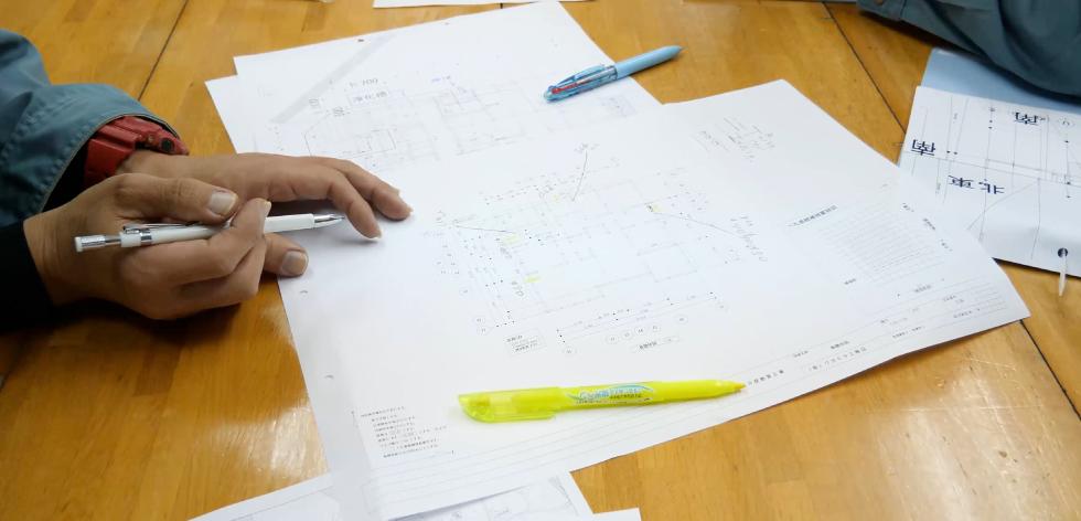 株式会社コゥ・テック 図面制作風景